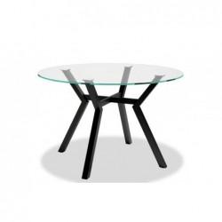 Mesa comedor redonda cristal