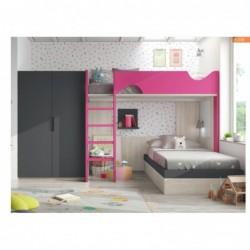 Dormitorio compuesto por...